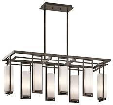 linear chandeliers perimeter 42935oz modern bronze crystal dining room chandelier