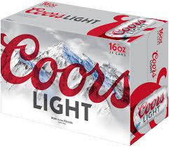 Coors Light Nutrition Facts 16 Oz Coors Light Beer American Light Lager 24 Pack Beer 16 Fl Oz Cans Walmart Com
