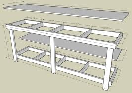 Garage Workbench Plans And Patterns Enchanting Garage Workbench Shop Work Bench Simple Design Bench