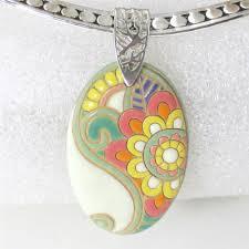 outstanding handmade big pendant necklace