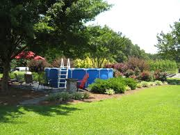Endearing Backyard Landscaping With Above Ground Swimming Pool Landscaping  : Comely Backyard Landscaping Decoration Design Ideas ...