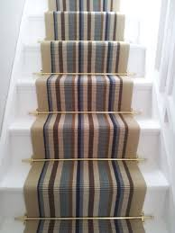Removing Stair Carpet Modern Carpet Runner For Stairs Striped With Modern Brushed Brass
