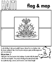 Learn More About The Haiti Flag With This Coloring Page Haiti