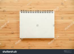Empty White Paper Page Binder Notebook Stock Photo Edit Now