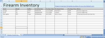 inventory spreadsheet with pictures free gun inventory spreadsheet gun details