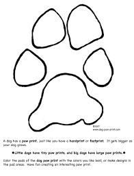 Small Picture Dog Paw Coloring Page Dog Paw Print