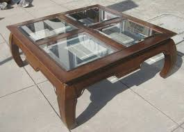 Square Coffee Table Glass Top