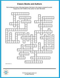 The free crossword maker is a puzzle maker to create your own crossword puzzles or one of the many created puzzles. Free Crossword Puzzles To Print Classic Books Authors