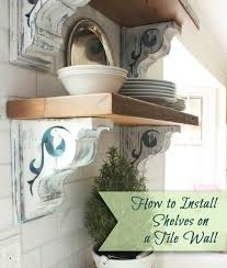 how to hang a shelf without drilling holes luxury how to install shelves using corbels on