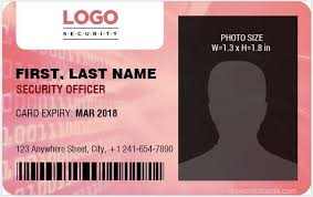 Security Card Template 4 Best Ms Word Security Guard Id Card Templates Microsoft Word Id