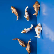 eapey scroll wall art koi fish