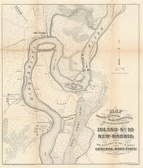 Army Corps Of Engineers Lower Mississippi River Navigation Charts Map Showing The System Of Rebel Fortifications On The