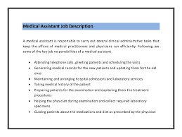 Medical Office Administration Duties Office Assistant Duties For Resume Job Description Medical