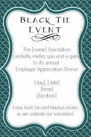 Formal Black Tie Employee Appreciation Dinner Invitation Template