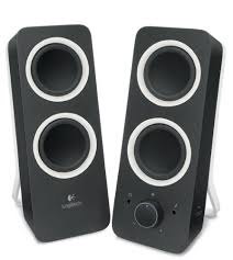 speakers for tv. z200 with stereo sound for multiple devices - black speakers tv c