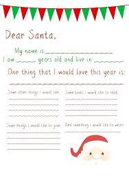 Printable Letter Templates Free Printable Letter Templates Santa List Blank Template