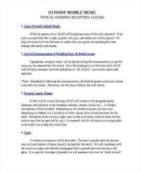 Wedding Reception Program Sample Templates Sample Wedding Wedding ...