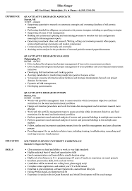 Quantitative Research Resume Samples | Velvet Jobs