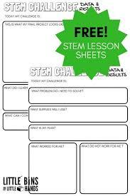 STEM Challenge Worksheets {FREE Printable | Stem activities ...