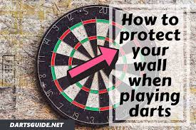 to protect your wall when playing darts