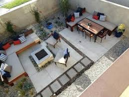 stamped concrete patio with square fire pit. Concrete Fire Pit Area Cement Square Backyard Small  Stamped . Patio With D
