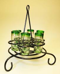 shot glass rack metal made in mexico