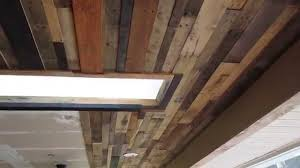 Reclaimed Wood Ceiling Or Accent Wall Diy Youtube