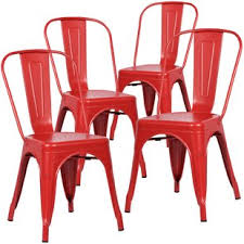 red kitchen dining chairs