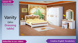 Learn Bedroom Furniture Vocabulary Creative English Vocabulary