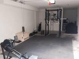 great single car garage gym