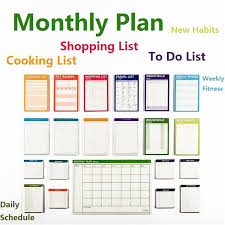 plan daily schedule monthly plan big 15 sheets weekly planner daily planner organizer