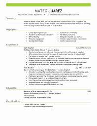 Teacher Resume Template Word 100 Beautiful Gallery Of Teacher Resume Template Word Resume 37