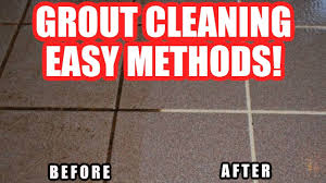 how to clean grout on tile floor in shower bathroom using household s