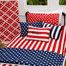 stars and stripes duvet dooner cover set red