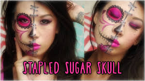 stapled sugar skull face paint
