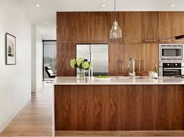 Kitchen cabinets wood Walnut 1 Veneer Wood Cabinetry Can Be Warm Kitchen Addition Angies List 10 Amazing Modern Kitchen Cabinet Styles