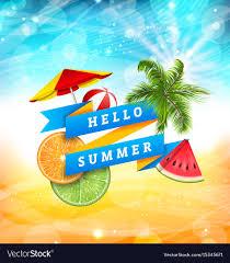 Summer Fun Designs Summer Fun Poster Design With Watermelon Umbrella