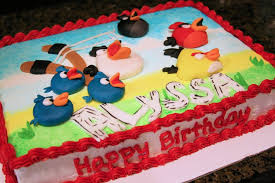 Angry Birds Sheet Cake CakeCentral
