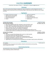 create my resume retail store manager resume examples