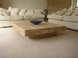 beauteous ibiza solid wood chunky rustic rectangle coffee table