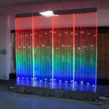 digital programmed led water bubbles panel wall feature standing fountain screen divider wall