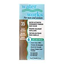 Water Works Water Activated Permanent Powder Hair Color For Men And Women 35 Sandy Blonde
