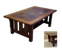 Beautiful Custom Made Tile Top Coffee Table Amazing Design