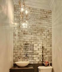 pre treat mirror tiles to look like mercury glass with alcohol tile wall and distressed tinting i have to find a way to put this in my