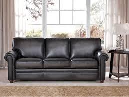 9997 60 sofa in oakley smoke stationary leather