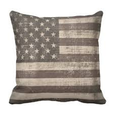Vintage American Flag Pillows Decorative & Throw Pillows
