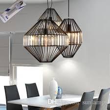 modern crystal pendant light clear black bar lounge restaurant kitchen lights hanging lamps led lighting decoration home pendant lamp pendant lights over