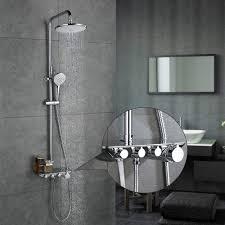 Desfau 3 Funktion Duschsystem Mit Regal Regendusche Duschset Duscharmatur Dusche Rainshower Inkl Handbrause überkopfbrause Brausestange