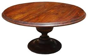 round wood dining table pedestal base rustic with unfinished