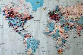 Wall World Map With Pins Stacolog Info